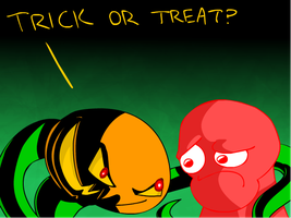 Trick or Treat by Calicard