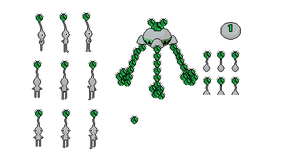 silver pikmin sprites by Ryanfrogger
