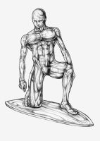 Silver Surfer Pencil Sketch by Esdras78