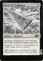 Magic Card Alteration: Sword of Vengeance Berserk by Ondal-the-Fool