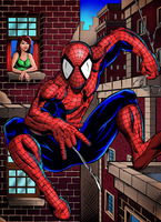 Spiderman and Mary Jane by RAM by ramstudios1