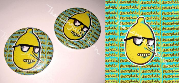 Lemongrab Button by TheLanguidClown