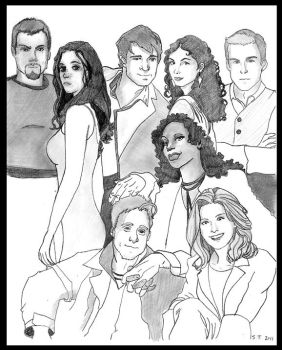Serenity Crew of Firefly by Saber75