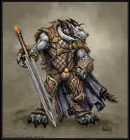 Woregn warrior colored by BannanaHamma