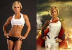 Before and After | Power Girl by RaissaPortela