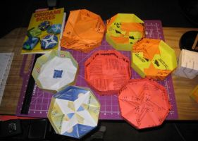 Origami Boxes: Lids Off by CaliforniaClipper