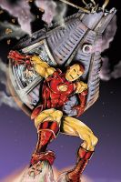 Iron Man saving mercury capsul by jlonnett
