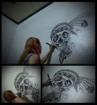 Eric's wall art WIP by camsy