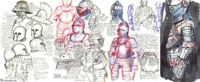 Armor Sketches by TylerScarlet