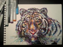 White Tiger w/ Materials by kDdabous