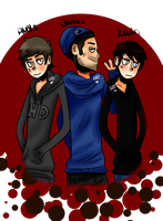 Aleks James Kevin by DeadliestCrusader