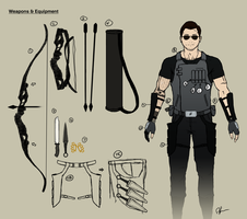 Hyuuga, Roku: Weapons/Equipment by daveartwork