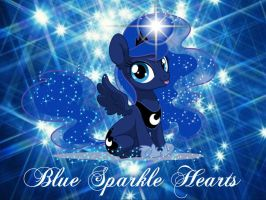 Blue Sparkle Hearts by Mobin-Da-Vinci