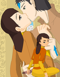 Mei Lien and her parents by airbender01