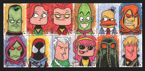 2013 Marvel Fleer Retro sketch cards 085-096 by thecheckeredman
