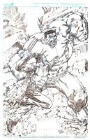 Wolverine Vs Hulk by pipin