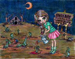 Tiptoeing Through the Zombies by elphaba-rose-wilde