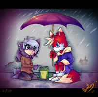 collab - Rainy Day by thatWeasel