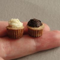 Polymer Clay Cupcake Duo by fairchildart