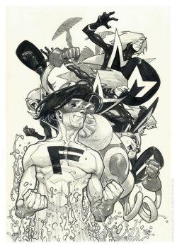 The Impossibles/inks/watercolor by rogercruz
