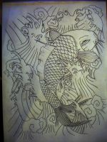 """sketch koi fish """"pro"""" by JOVictory"""