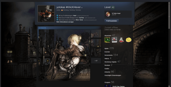 [Animated] Annie, Attack On Titan SteamProfile by yolokas
