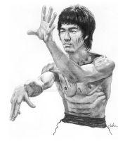 Bruce Lee Sketch by JohnHaunLE