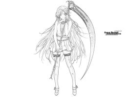 Lineart Lisara Restall by Oneiros1987
