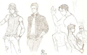 Outsiders doodle (Arsenal and Nightwing) by kwun-kwun