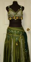 Green Tribal Bellydance Costume by Gypsy-Red