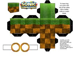 Sonic Green Hill Zone Generations Ground Block by mikeyplater
