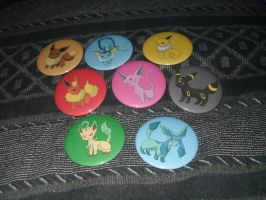 Eeveelution Buttons by R3YD1O