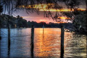Sunset on Murray by AbbottPhotoArt