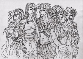 APH sketch: Ancient Europe by TheInkgirl