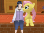 Hinata and Fluttershy at Twilight Town by princevegeta86