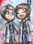 Hannibal chibis - Jimmy Price and Brian Zeller by FuriarossaAndMimma