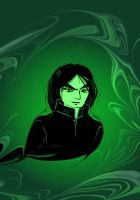 Snape in green by asuo