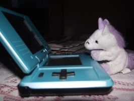Unicorn Playing Video Game by bassdrummerkid