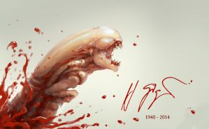 Tribute to HR Giger by ConejoBlanco