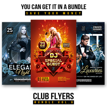 Club flyers bundle by iorkdesign
