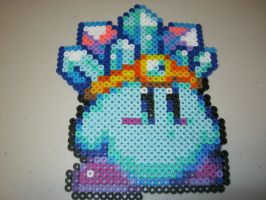 Perler Ice Power Kirby by Ritalabella