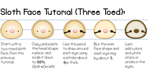 Fuzzy Sloth Face Tutorial (3 Toed) by Paradasia