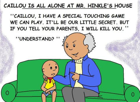 Caillou and Mr. Hinkle by AVRICCI