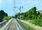 landscape with railway by trista13artist