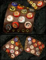 Post-Apoc: Bottlecap Bracers by TormentedArtifacts