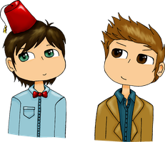 Le Doctors... :D by SarahThePegasister