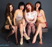 Bettie Page Tribute Pinup by TorqueDom3