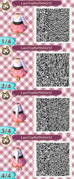 Lace Top Ruffle Skirt Pink QR Code by ChibiBeeBee