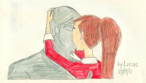 Kevin and Gwen kiss by lukio5000