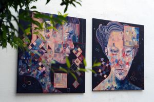 Him and Her, hanging in the garden by jane-beata